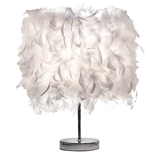 JTIH ® Kreative Led Schlafzimmer Lampe Persönlichkeit Net Red Feather Kronleuchter Warme Romantische Ins Mädchen Hochzeit Raumdekoration Lampe (Kopfhörer-jack-reiniger Für Mädchen)