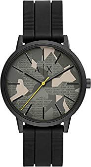 Armani Exchange Cayde Men's Green Dial Silicone Analog Watch - AX2721, B