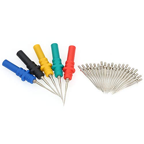 Oszilloskop-Taststifte Set, Baugger- 5-tlg. HT307 Zubehör für Kfz-Tests Zurück Stifte Handheld-Oszilloskop-Tastnadel
