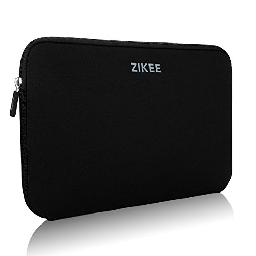 Zikee Laptop Sleeve Case per 15 15.6 Pollici Neoprene Water resistant Notebook Netbook Computer Portatile Computer Briefcase Carrying Case Cover Bag Custodia Borsa Involucro per Laptop, for Acer/ASUS Zenbook 15.6/Dell Inspiron/HP Pavilion/Samsung/Toshiba Satellite(Nero)