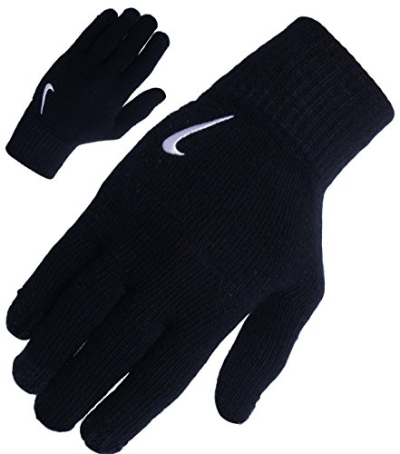Nike - Strick Winter Handschuhe mit verschienden Swoosh Farben - Black (L/XL, Black White)