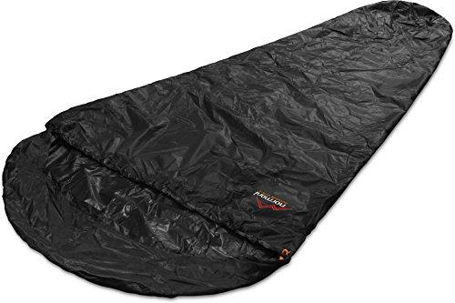 Schlafsacküberzug Biwaksack - 100 % wind- und wasserdicht, Atmungsaktivität: 3000 mvp [230 cm x 90 cm] Farbe Schwarz Größe 230 x 90 x 60 cm - RV Links