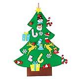 LUOEM DIY Filz Weihnachtsbaum mit Ornamente Weihnachten Wandbehang Kinder Weihnachtsschmuck zum Aufhängen