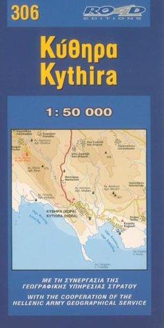 Carte routière : Kythira, N° 306 (en anglais)