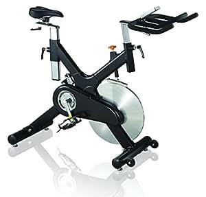 AsVIVA S10 Indoor Cycle Cardio X mit 20kg Schwungscheibe, Filzbremse und Riemenantrieb, inkl. Multifunktionscomputer mit Handpulsmessung, verstellbarer Sattel und Lenker