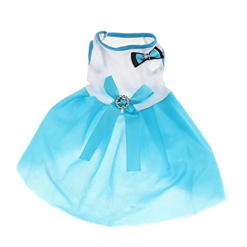 NON Sharplace Ropa Primavera Verano Perro Capas Vestido Princesa Accesorios Suave Confortable - Azul S