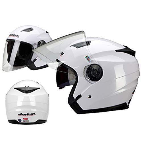 Qianliuk Dual-Objektiv-Motorrad-Helm Elektro-Fahrrad-Scooter MotorradHelme Unisex Motorrad-Helm