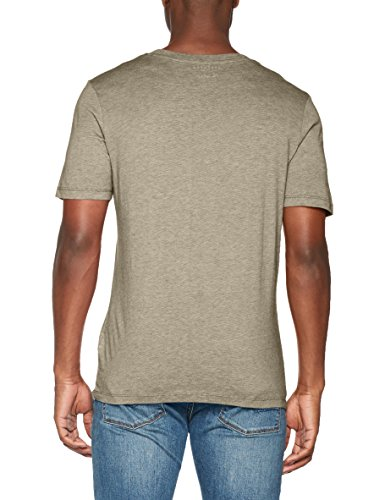 SELECTED HOMME Herren T-Shirt Shdtheperfect Melange Ss O-Neck Tee Noos Mehrfarbig (Dusty Olive Stripes:Egret)