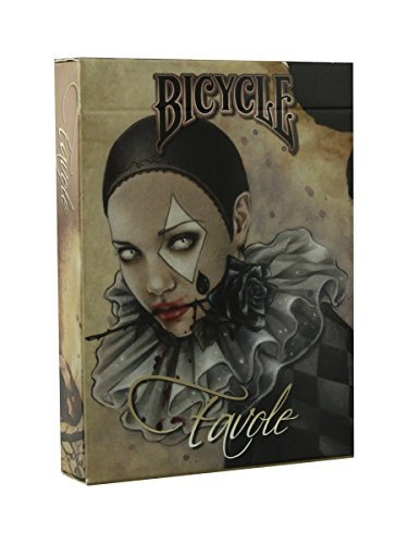 Bicycle - Baraja Favole, cartas de Poker, color beige (Naipes Heraclio Fournier 1026506)
