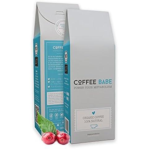 CoffeeBabe – Organic es un café Premium de tipo arábigo con superalimentos Bio seleccionados (yerba mate, té rojo Rooibos, té verde matcha, Garcinia Cambogia, etc.) |Café adelgazante Orgánico | Tostado a mano en Alemania | Con certificación Bio 100
