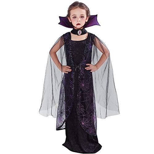 EraSpooky Fledermaus Kostüm Vampir Faschingskostüme Cosplay Halloween Party Karneval Fastnacht - Gothic Vampir Kinder Kostüm