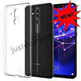 JDIWS Kompatibel mit Huawei Mate 20-lite Schutz-Hülle Silikon, TPU transparent Ultra-Slim - dünn Case Cover Ultra-Thin 0,8mm (Mate 20 Light)