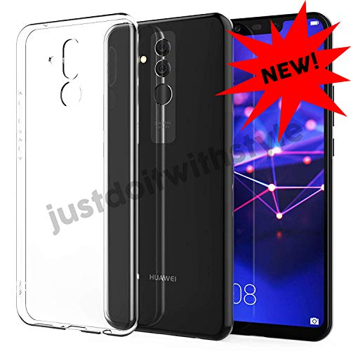 JDIWS Kompatibel mit Huawei Mate 20-lite Schutz-Hülle Silikon, TPU transparent Ultra-Slim - dünn Case Cover Ultra-Thin 0,8mm (Mate 20 Light) Ultra Light Case