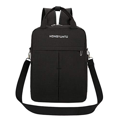 Unbekannt Laptop-Rucksack mit USB-Ladestation Zweiteiliger Business-Computer-Rucksack für Männer und Frauen, geeignet für 15,6-Zoll-Laptop,Black