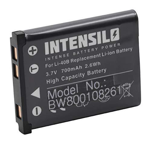 INTENSILO Li-Ion Akku 700mAh (3.7V) für Kamera Camcorder Fuji/Fujifilm FinePix XP130 wie Li-40, D-Li63, NP-80. Finepix Camcorder