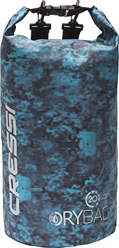 Cressi Waterproof Bag Hunter Sacca Stagna Multifunzionale con Cinghie/Spallacci Regolabili, Blu Mimetico, 20 l