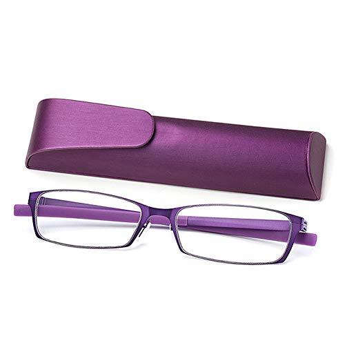 RXBFD Blaulichtfilter-Lesebrille, Slim Compact Taschenleser, Stilvolles HD tragbar Unisex-Brille