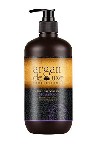 Arganöl Haarwachstums Shampoo in Friseur-Qualität ✔ Effektiv gegen Haarausfall ✔ Stärkend, Regenerierend, Wachstumsfördernd ✔ Argan DeLuxe, 300ml