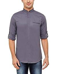 Nick y para hombre jess gris Mao cuello Lycra de algodón Slim camiseta
