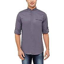 nick&jess - Camisa casual - Básico - cuello mao - Manga Larga - para hombre