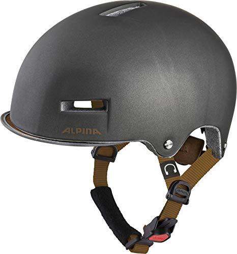 Alpina Unisex- Erwachsene Grunerlokka Fahrradhelm sepia 52-57 cm