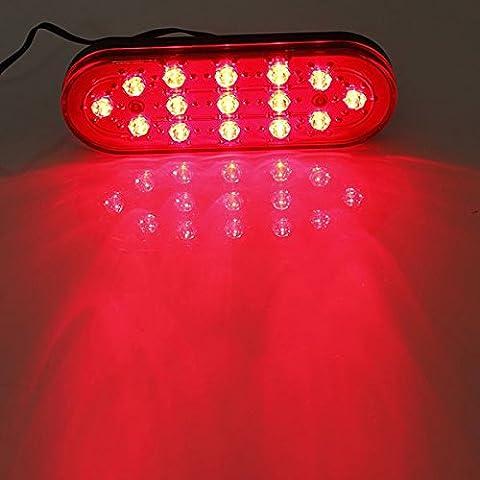 15 LED Strobe auto posteriore della coda del freno DRL arresto della luce di nebbia lampeggiante della lampada