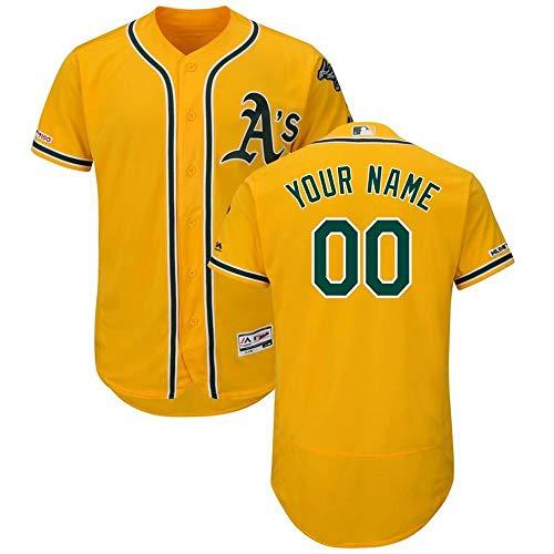 Custom Athletic Shirts (Personalisierte MLB Baseball Jersey, Exquisite Baseball T-Shirt Sport Base T-Shirt für Männer und Frauen und Jugend, Custom Made von jedem Namen und Nummer)