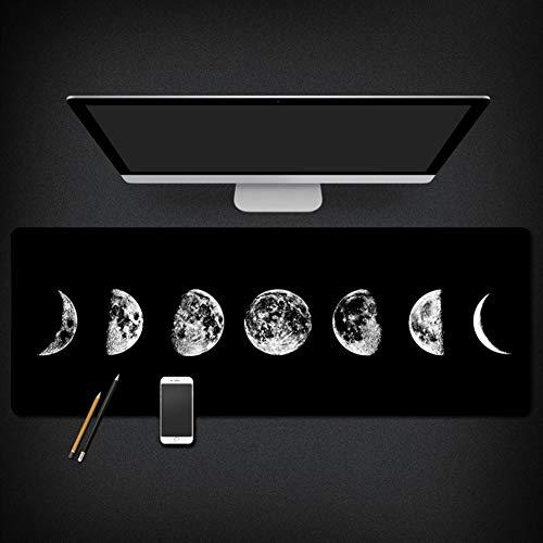 Insun Mauspad Mouse Pad mit Verstärkte Kanten Schreibtischunterlage Stoffmauspad Wasserdicht Anti Rutsch Matte für Maus und Tastatur Lunar Eclipse 30x78cm