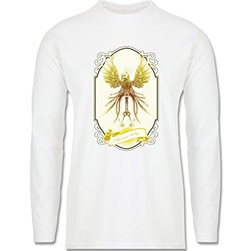 Vintage - Phoenix rising - Longsleeve / langärmeliges T-Shirt für Herren Weiß