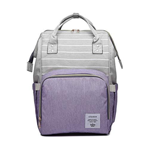 Tshopm LEQUEEN Multifunktionale Wickeltasche mit großer Kapazität für Mama Mutterschaft Wickeltasche Gr. One size, violett