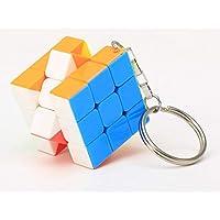 QILEGN Kreative dritte Ordnung Solid Color Cube Schlüsselanhänger Rubiks Schlüsselanhänger Würfel Geschenke