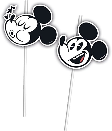 Disney 6 Trinkhalme * MICKEY MOUSE - SUPER COOL Kindergeburtstag oder Mottoparty // Kinder Geburtstag Motto Party Micky Maus Strohhalme Straws (Motto-partys Mickey Maus)