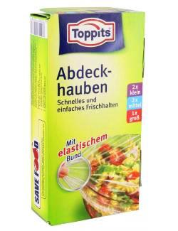 Toppits® Abdeckhauben / Folien mit elastischem Bund (2 x S / 2 x M / 1 L) TOP QUALITÄT