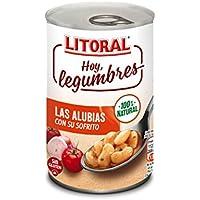 LITORAL Hoy Legumbres Alubias con su sofrito - Plato Preparado Sin Gluten - Total: 6.45 kg