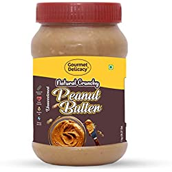 Gourmet Delicacy Unsweetened Natural Crunchy Peanut Butter, 1 Kg