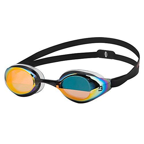 Barracuda BOLT MIRROR -Schwimmbrille für Damen und Herren mit 100% UV-Schutz, Anti-Beschlag-Beschichtung, wasserdicht, aus hautverträglichem Kunststoff inklusive KOSTENLOSEM Etui #90210 (Black)