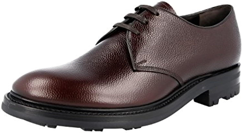 Prada 2EE228 - Zapatos de Cordones de Piel Para Hombre, Color Marrón, Talla 39.5 EU -