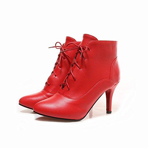 Misssasa Femme Chaussures À Talons Hauts Eleagnte Red Laced