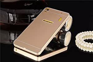 Lenovo A7000 case, Koko Aluminum Metal Bumper Frame Case with Acrylic Back Cover for Lenovo A7000 - Golden by MOBILEKART_SHOP