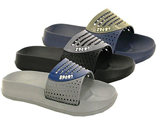 Other, Pantofole uomo Navy/Grey