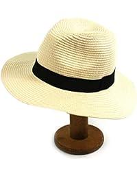 95e388f7cd24 Mens Summer Mens Folding Panama Straw Summer Fedora Trilby Golf Safari Sun  Beach Hat in Bag