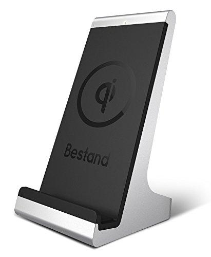 Bestand Induktive Ladestation, Qi Wireless Ladegerät für Alle Qi-Fähige Geräte: Samsung Galaxy S7 / S7 Edge / S6 / S6 Edge, Nexus 5 / 6 / 7, LG G3 / G4, Moto 360 Smart Watch usw - Silber