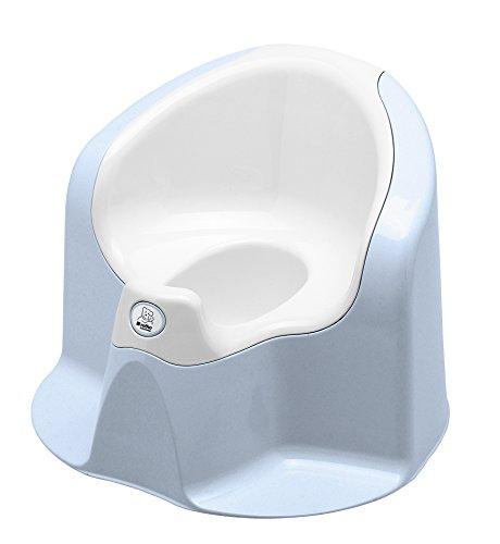 Rotho Babydesign TOP Petit Pot Xtra Confort, avec Couvercle Amovible, À partir de 18 mois, TOP Xtra, Baby Bleu perle (Bleu Clair)/Blanc, 20504023801