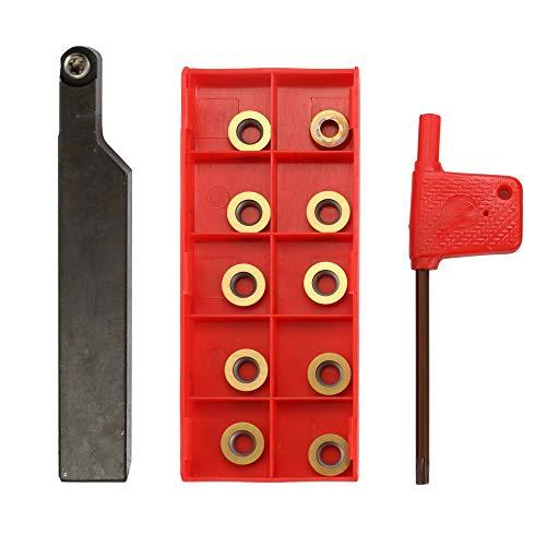 Godyluck SRAPR 1616H10 con Inserti in Metallo Duro Utensili per Tornitura con Fresa a Testa Frontale per Tornio Esterno