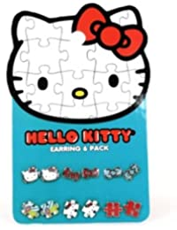 0d5c7b5003ae Earring Pack - Hello Kitty - New Sanrio Puzzle Set-6 Toys Gifts sane0050