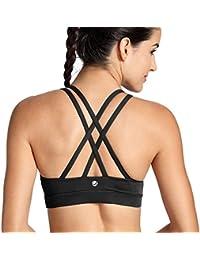 CRZ YOGA - Sujetador Deportivo Yoga Cruzados Almohadillas Extraíbles para Mujer
