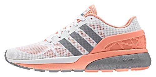 adidas - Cloudfoam Flow W, Scarpe sportive Donna ftwwht-grey-sunglo