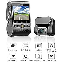 VIOFO Caméra Embarquée de Voiture A129 Duo Dual Channel 5GHz WiFi Full HD Dash Cam GPS G-Sensor 1080P Double Caméra Voiture Avant et Arrière avec écran 2,0 Pouces (A129 Duo avec GPS)