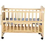 Mee Mee Baby Wooden Cot (with Rocking Function, Maple Wood)