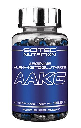 Scitec Ref.108469 Complexe d'Acide Aminé Complément Alimentaire Arginine Alpha-Cétoglutarate 100 Capsules